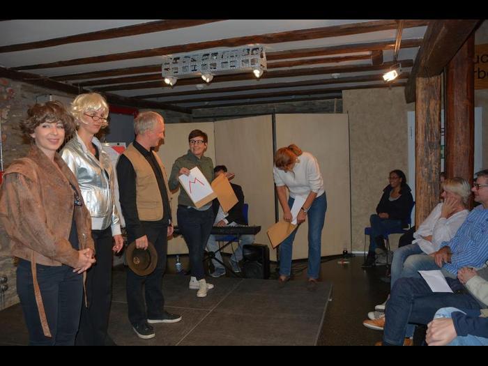Auch das Publikum wird beim Improtheater mit einbezogen. Foto: Stefan Gärth